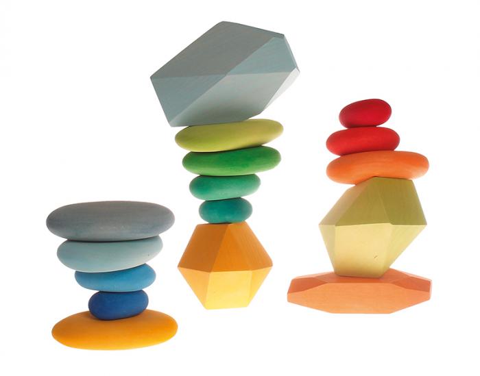 Forme in echilibru oval nuante de albastru [3]