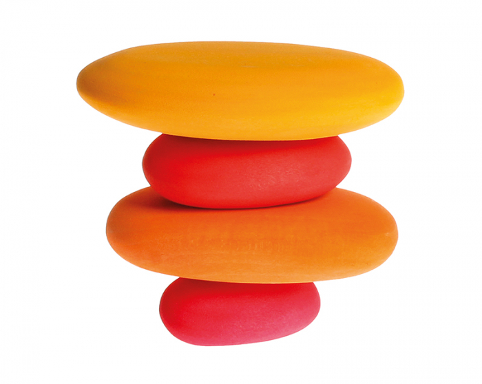 Forme in echilibru oval nuante de rosu 1
