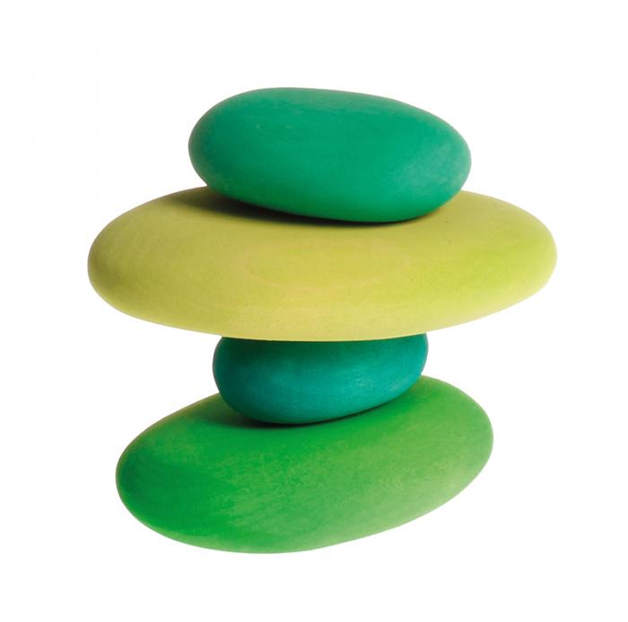 Forme in echilibru oval nuante de verde 0