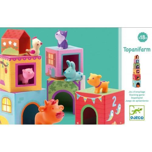Topanifarm - Joc cu cuburi si figurine 1