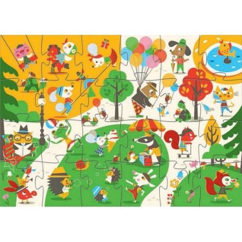 Puzzle gigant - Sa ne jucam in parc 0
