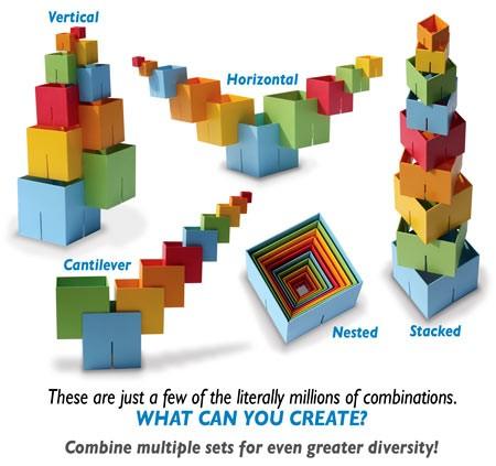 Joc de constructie Cuburi DADO Original - Fat Brain Toys [5]