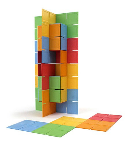 Joc de constructie Patrate DADO Original - Fat Brain Toys 0