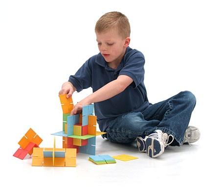 Joc de constructie Patrate DADO Original - Fat Brain Toys 3