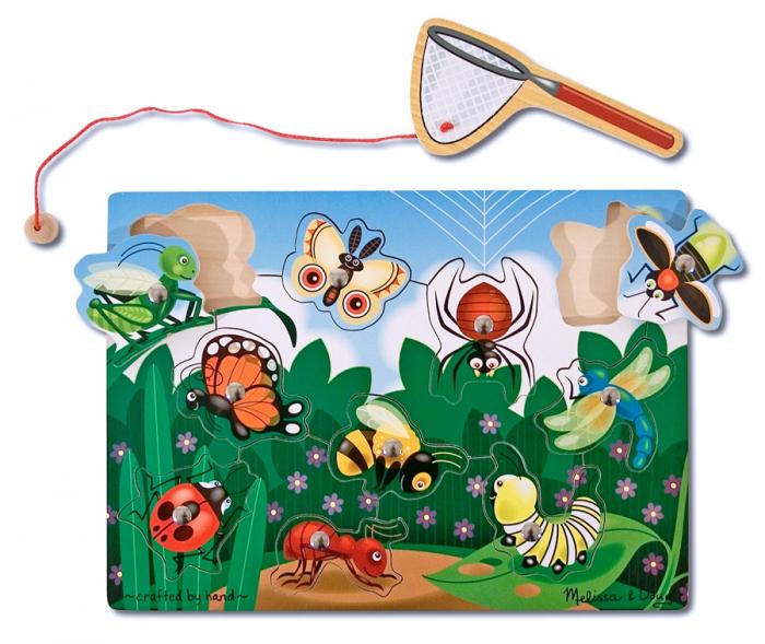 Joc din lemn magnetic Prinde insectele [0]