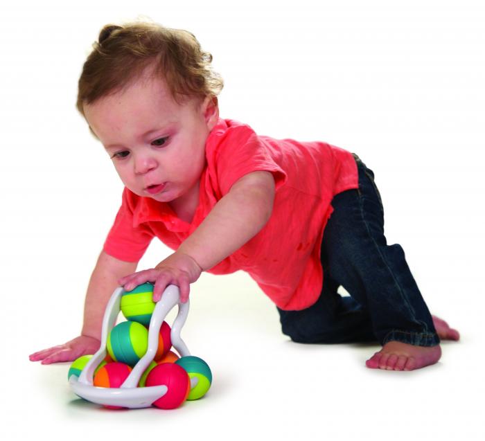 Jucarie distractiva cu bile Rollio - Fat Brain Toys 1