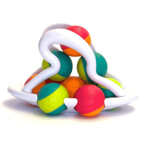 Jucarie distractiva cu bile Rollio - Fat Brain Toys 0