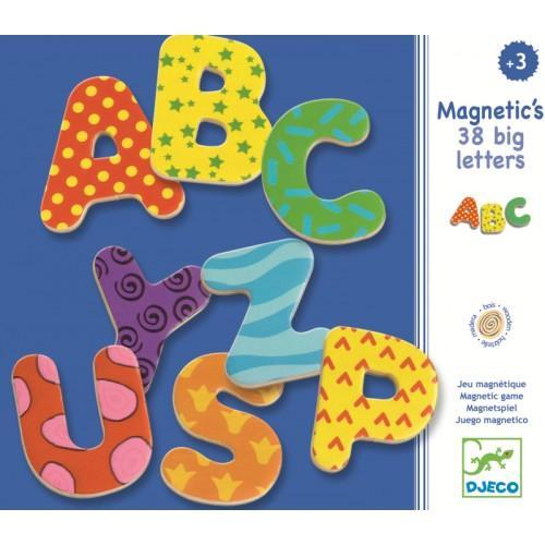 38 Litere magnetice colorate pentru copii 1