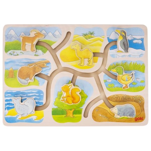 Labirint din lemn Casutele animalelor [0]