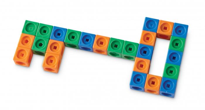 Set MathLink - Constructii 3D din cuburi interconectabile 3