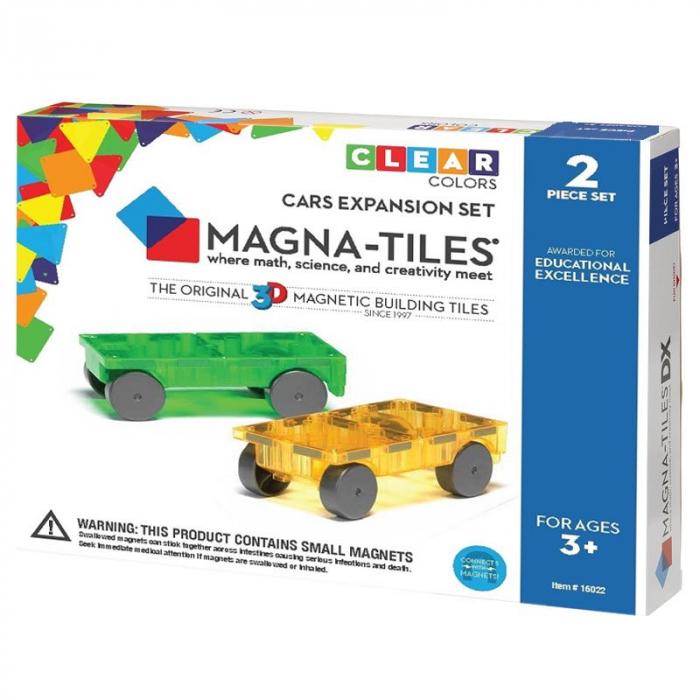 Magna-Tiles Extensie 2 masinute magnetice 0