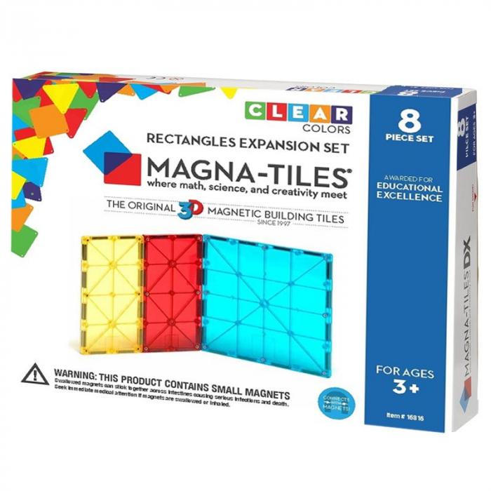 Magna-Tiles Extensie Dreptunghiuri - 8 piese 0