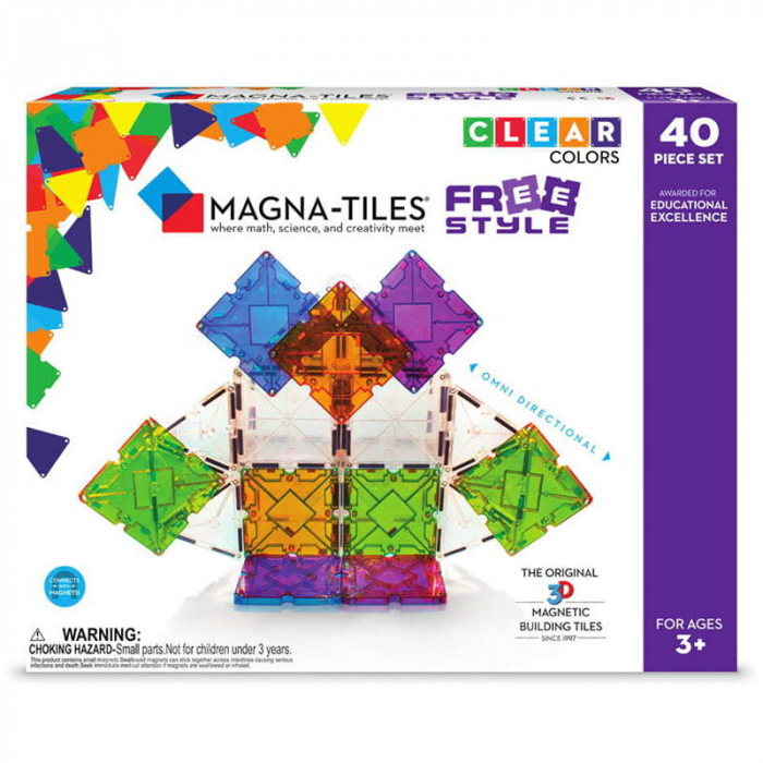 Magna-Tiles Freestyle cu magneti mobili - 40 piese 0
