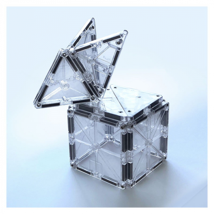 Magna-Tiles ICE Transparent - set magnetic - 16 piese 3