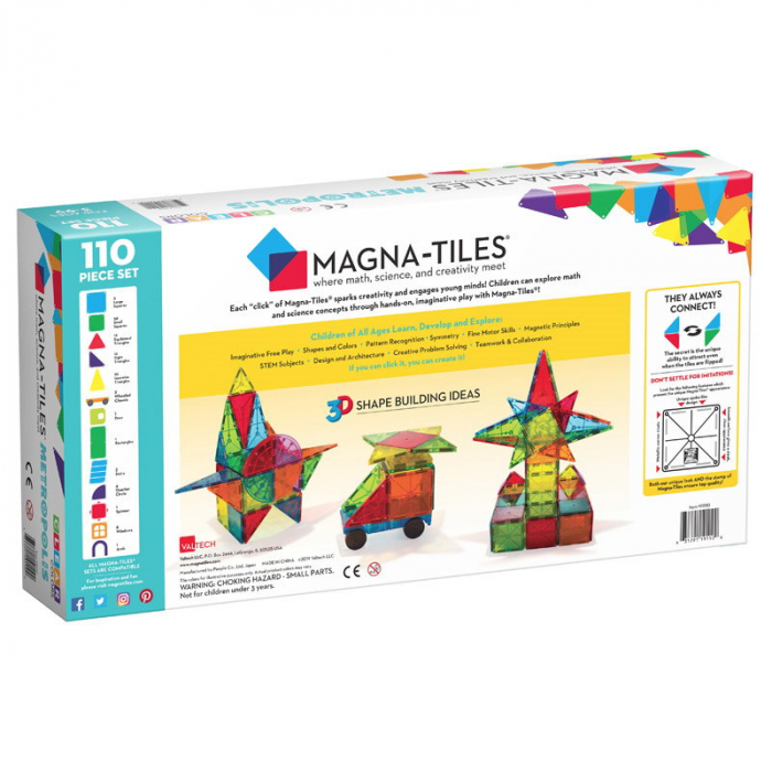 Magna-Tiles Metropolis set magnetic - 110 piese 5