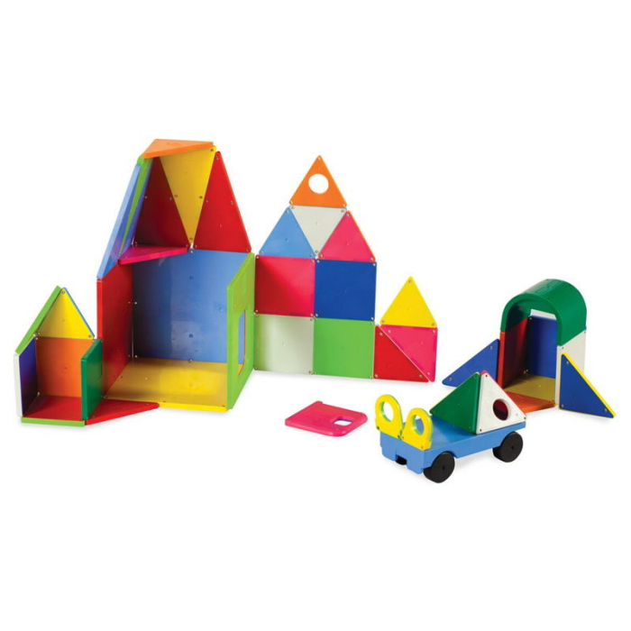 Magna-Tiles Solid Colors set magnetic - 48 piese [1]