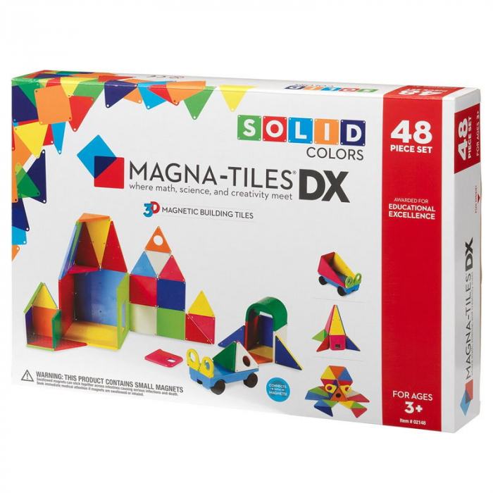 Magna-Tiles Solid Colors set magnetic - 48 piese [0]
