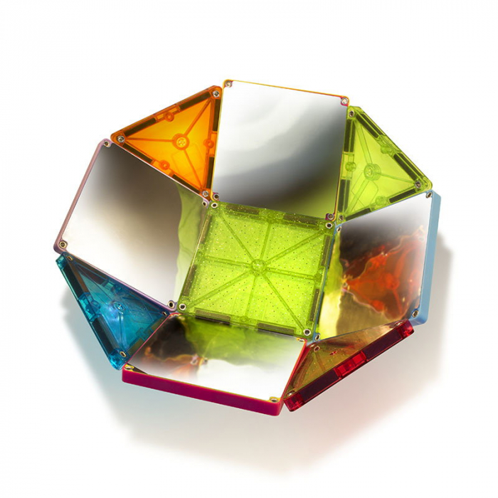 Magna-Tiles Stardust cu sclipici si oglinzi - 15 piese [1]