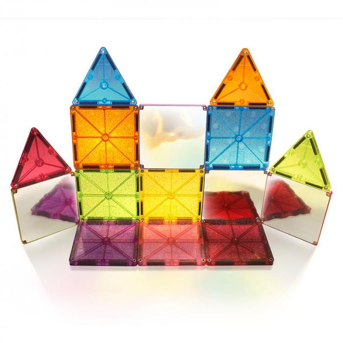 Magna-Tiles Stardust cu sclipici si oglinzi - 15 piese [3]