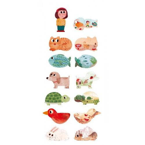 Puzzle cu animale de companie 1