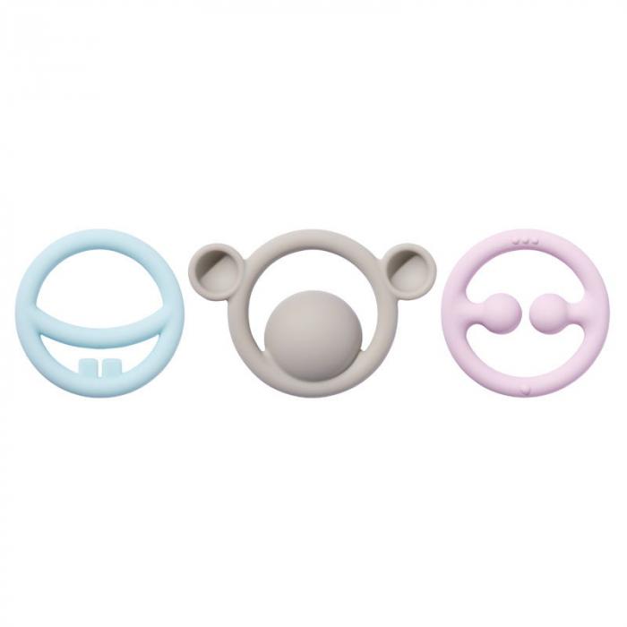 Nigi-Nagi-Nogi - set 3 inele de dentitie multisenzoriale - Pastel [2]