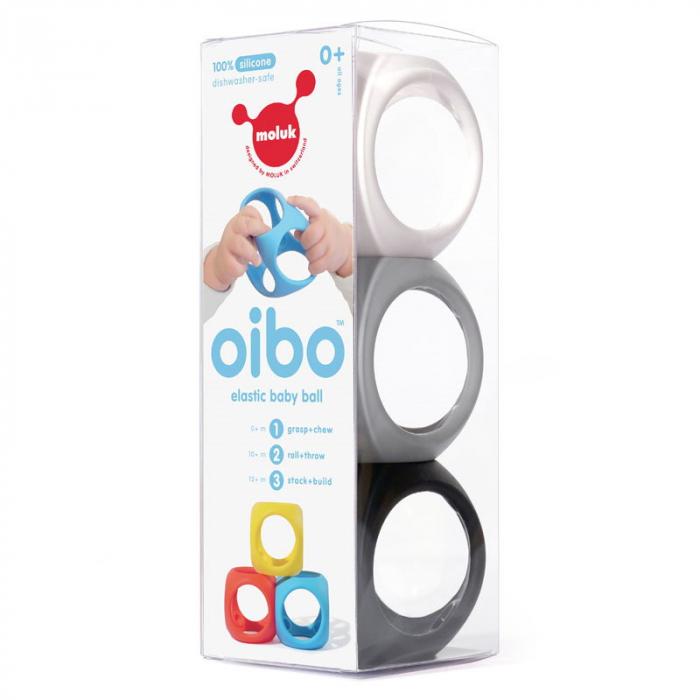 Oibo - set 3 jucarii senzoriale flexibile - Monocrom 2