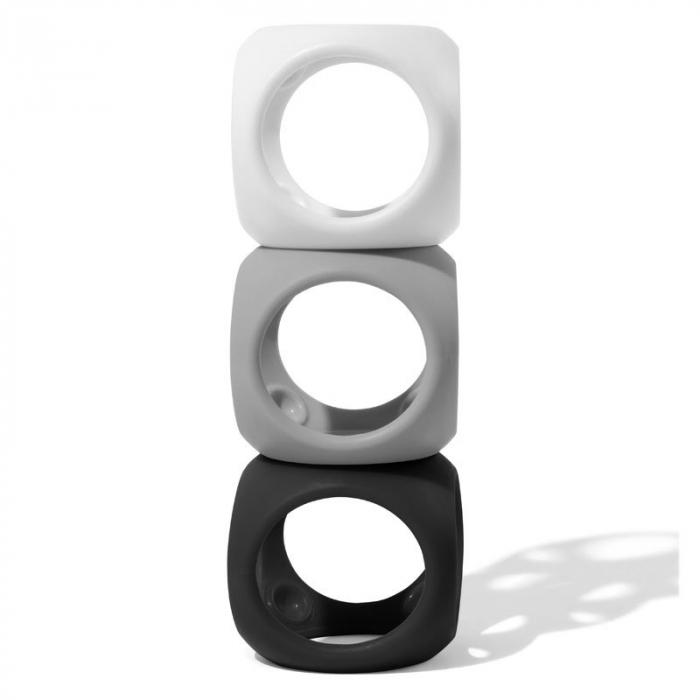 Oibo - set 3 jucarii senzoriale flexibile - Monocrom 3