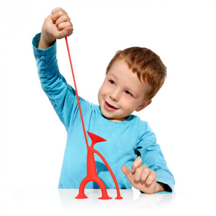 Oogi - Omuletul flexibil cu ventuze - Rosu 1
