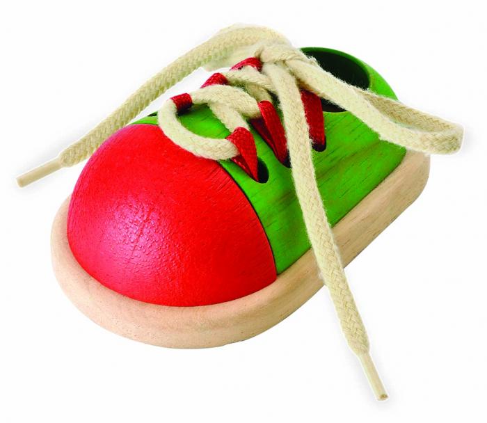 Pantof de jucarie cu sireturi pentru copii 0