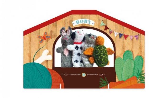 Papusi tricotate pentru Teatru cu papusi, Animale Londji 0