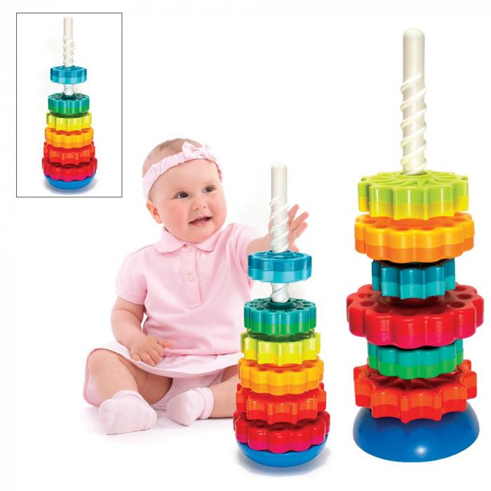 Piramida cu rotite pentru bebelusi - Fat Brain Toys 7
