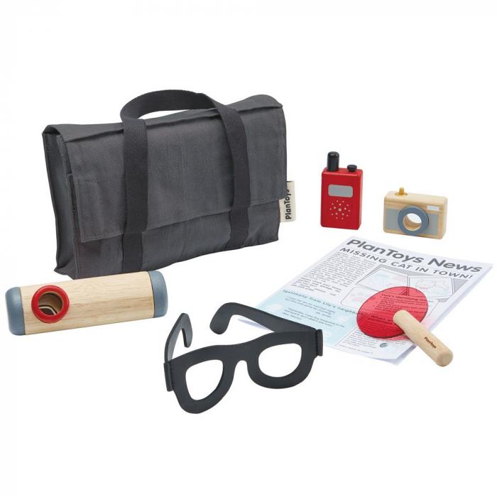 Set de detectiv din lemn - Plan Toys 0