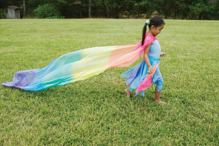 Play Silk Curcubeu - esarfa gigant 1