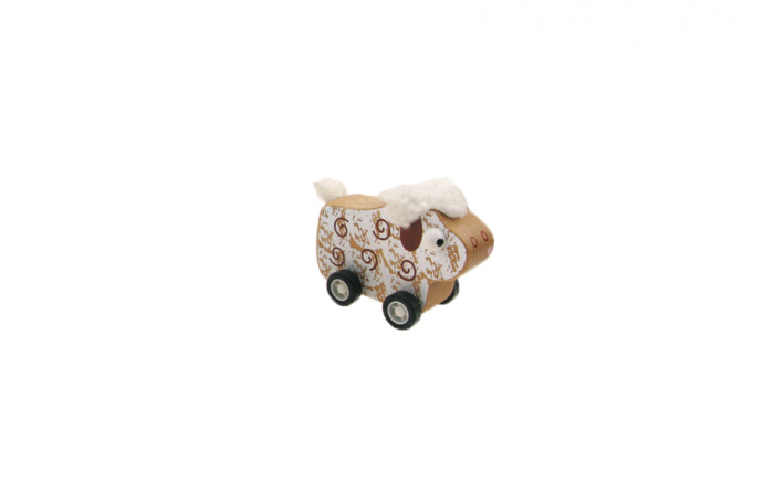 Prietenii mei cu roti - Animalute din lemn cu roti sistem pullback - 6 variante 2
