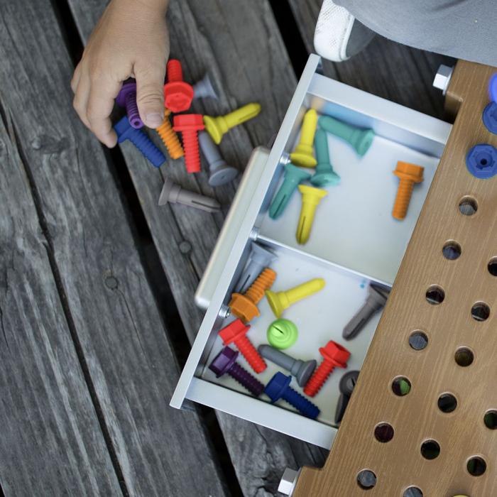 Primul meu atelier - varianta maro - Set creativitate si indemanare 4
