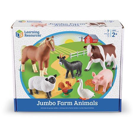 Animalele de la ferma - Set figurine mari +2 ani