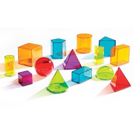 Set figuri geometrice transparente 0