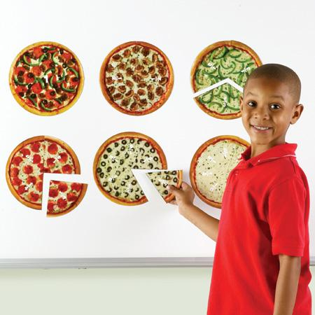 Felii de pizza magnetice - Sa invatam fractiile 1