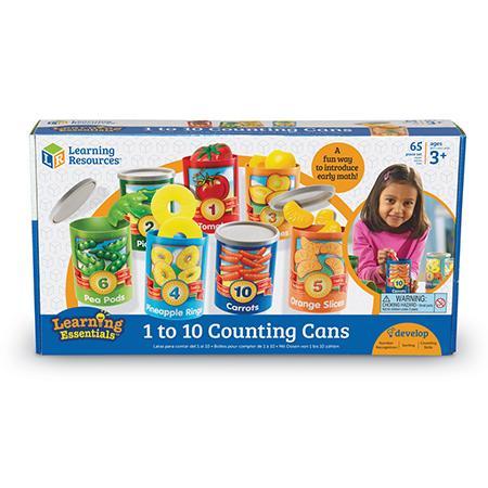 Numara conservele - Set invatare fructe cifre si culori 1