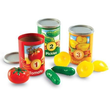 Numara conservele - Set invatare fructe cifre si culori 3