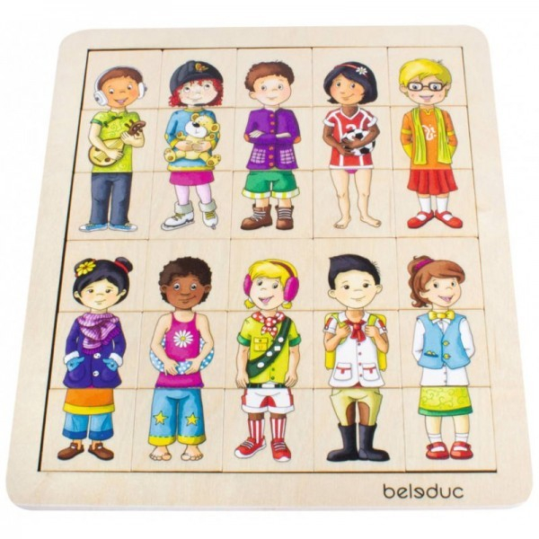 Puzzle amesteca si potriveste Copiii lumii 2