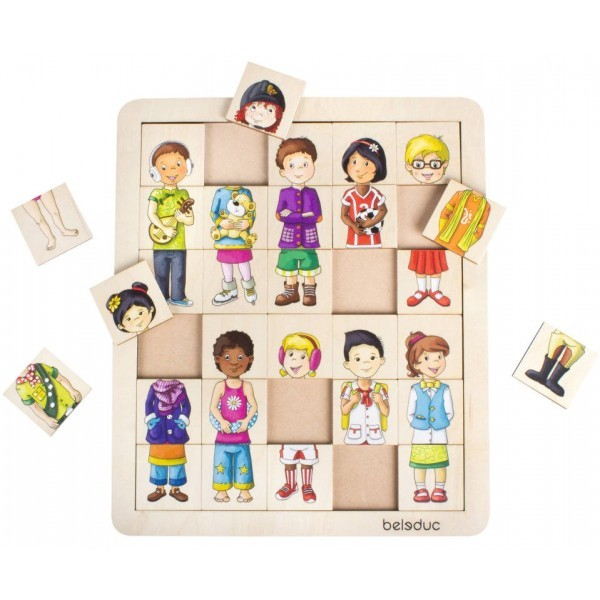 Puzzle amesteca si potriveste Copiii lumii 1