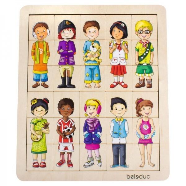 Puzzle amesteca si potriveste Copiii lumii 0