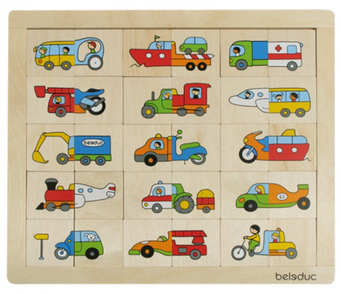 Puzzle Amesteca si potriveste Transport 1