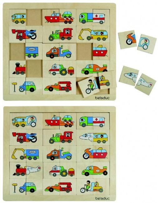 Puzzle Amesteca si potriveste Transport 4