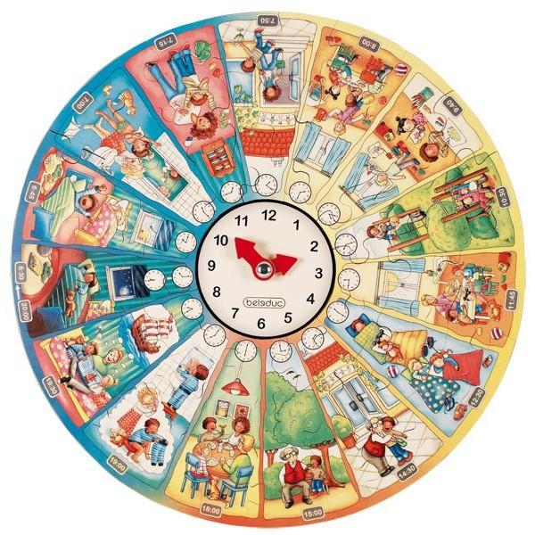 Puzzle circular Invata ceasul [3]