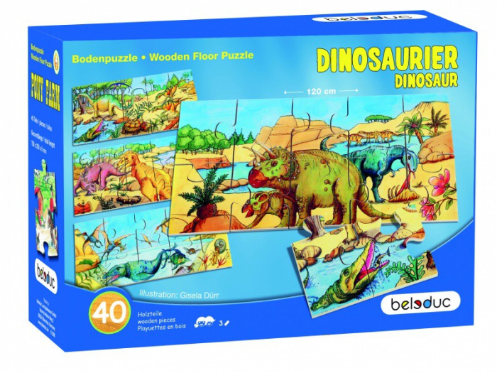 Puzzle de podea Dino 0