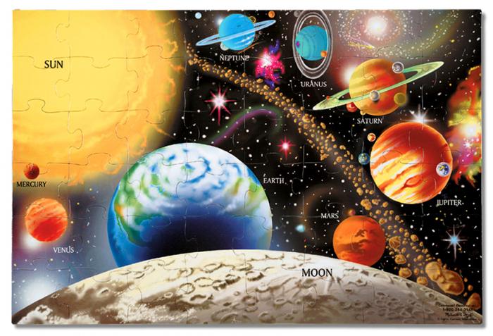 Puzzle de podea Sistemul Solar 1
