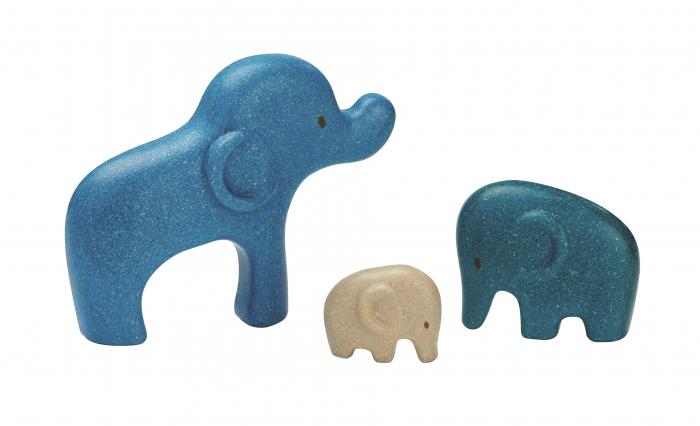 Puzzle din lemn cu elefanti 1