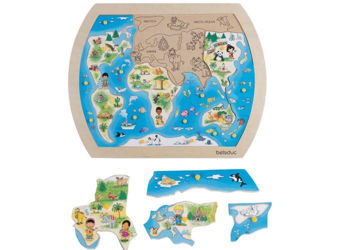 Puzzle din lemn O lume intreaga 1